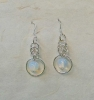 Chainmaille Earrings with irridescent glass beads